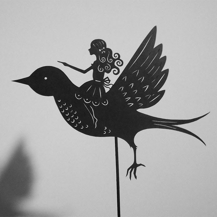 Thumbelina / Laser cut Shadow Puppet/ Fairy Tale Series