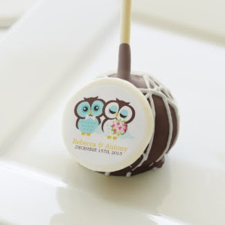 Bride and Groom Owls Wedding Cake Pops