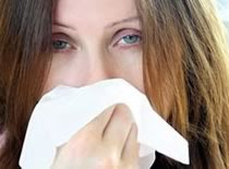 Photo of woman with flu