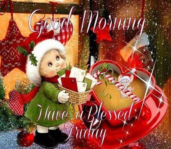Christmas Kid Good Morning Blessed Friday Quote Pictures Photos
