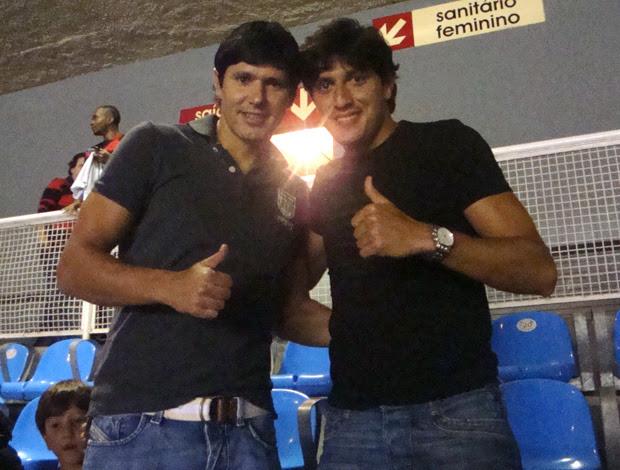 Fábio Luciano e Rodrigo Arroz no Maracanã