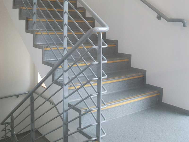 stairway handrails metal