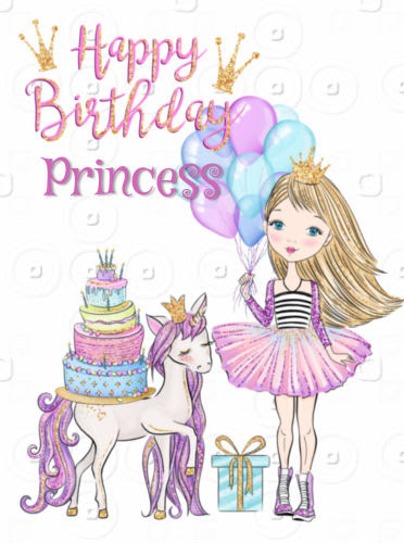Happy Birthday Little Girl Princess Free For Kids Ecards 123