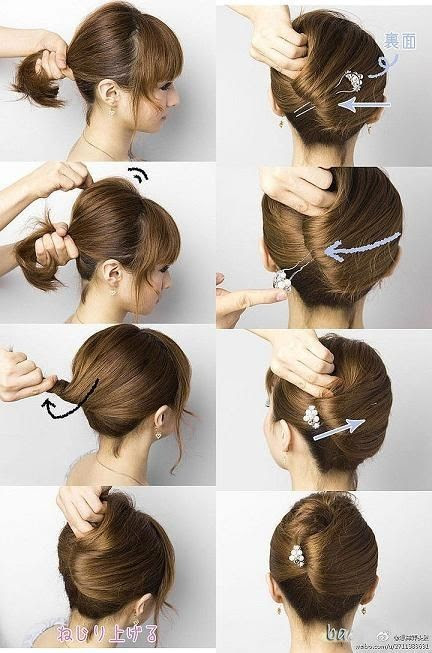 Twisted-Updo-Hairstyle-for-Short-Hair