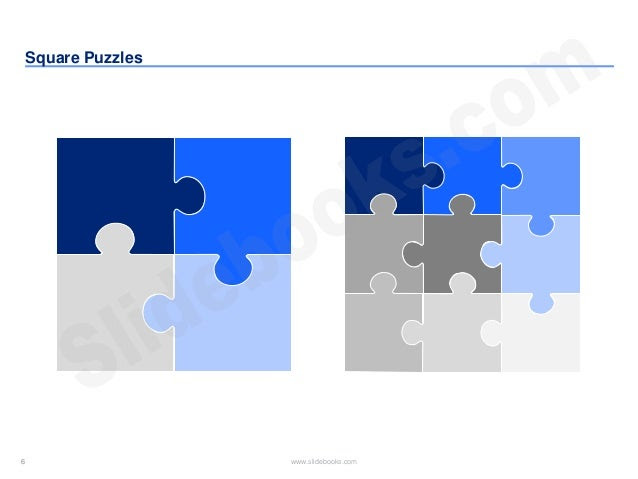 Puzzle diagrams in editable Powerpoint