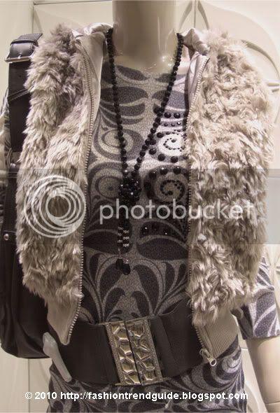 beige faux fur vest