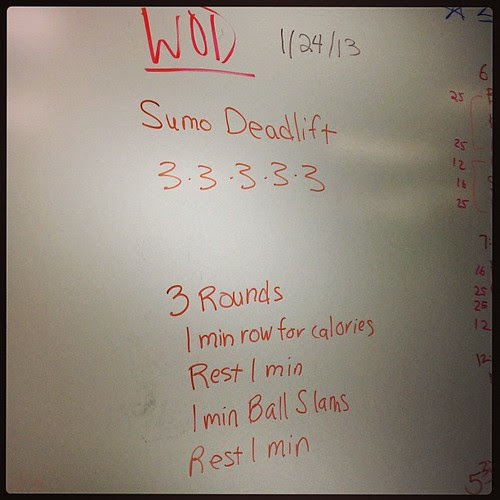 Last night's CrossFit workout. It was a killer!