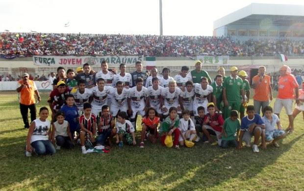 Baraúnas vence e se classifica para Série C 2013 (Foto: Bruno Araújo/GLOBOESPORTE.COM)