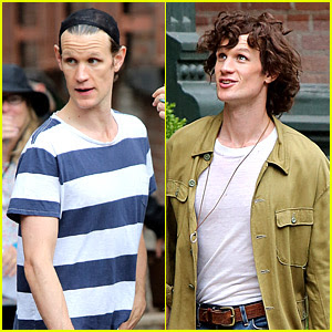 Matt Smith Wears a Curly Wig on 'Mapplethorpe' Movie Set!