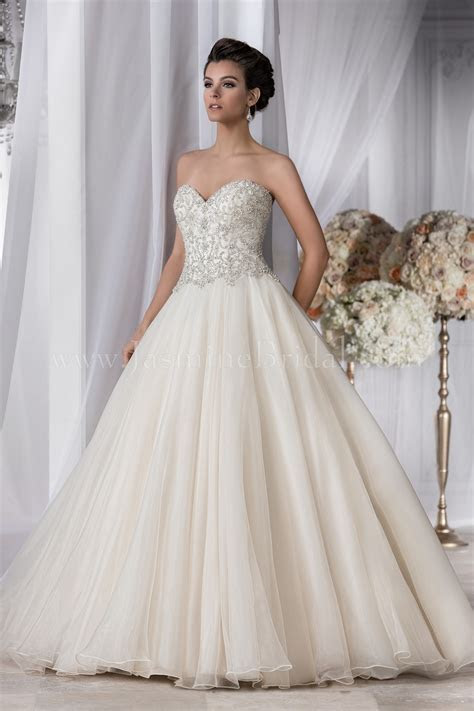 T182062 Sweetheart Strapless Organza Wedding Dress with