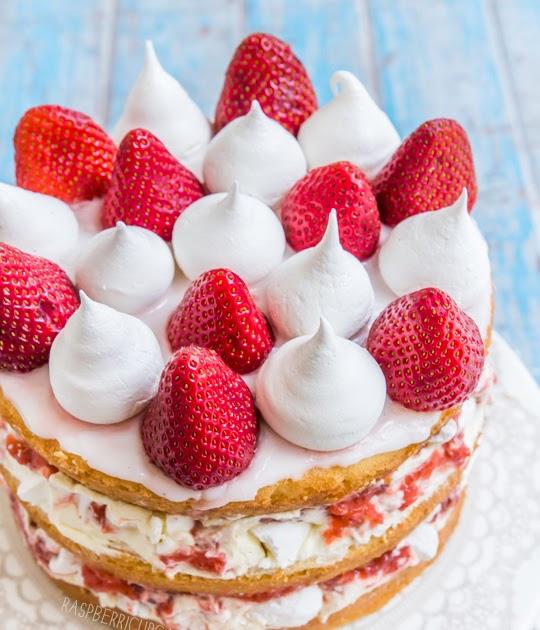 Strawberry Meringue Sponge Cake Recipe