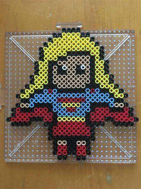 supergirl perler bead pattern fun  leif perler