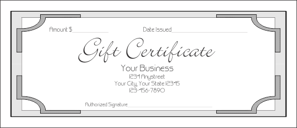 Gift Certificate Template 7 600 PNG