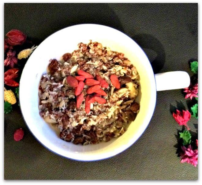 Nutty Coconut Raisin Quinoa Porridge