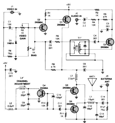 free wiring diagram  rf to av circuit