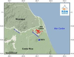 El mapa muestra el resumen de todas las localizaciones realizadas en la zona de la isla Calero, desde el 22 de setiembre y hasta el día de hoy.