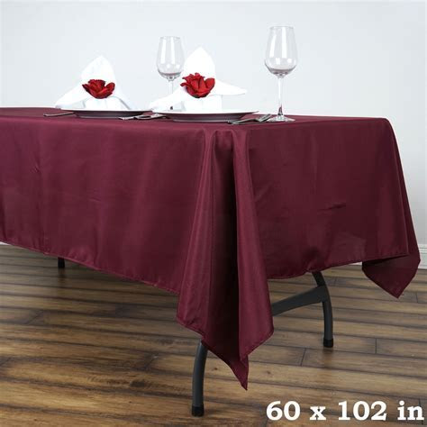RECTANGULAR Polyester Tablecloths Restaurant Catering Home
