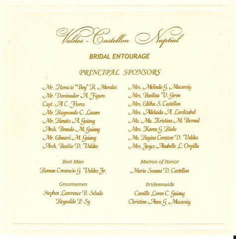 Wedding Invitation   Valdes Castellon Nuptials