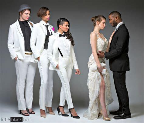 womens ivory diamond white tuxedo ladytux peak lapel