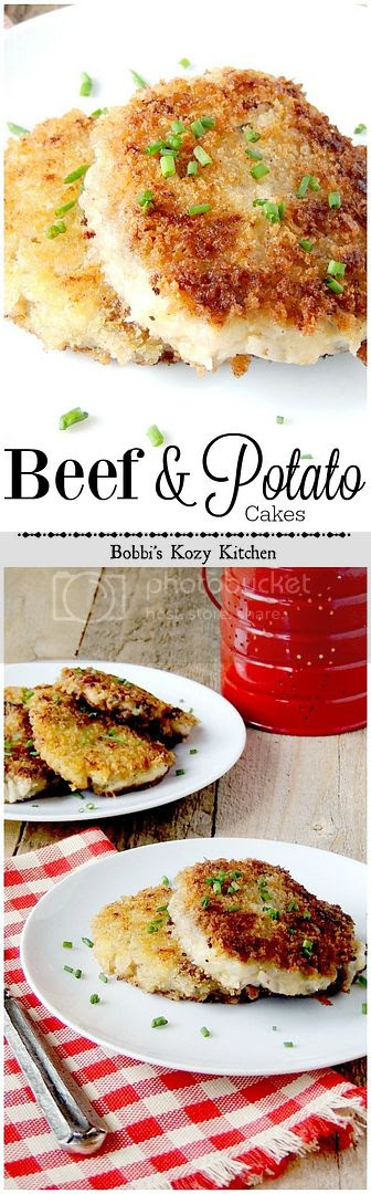 Turn leftover beef and mashed potatoes into a delicious breakfast or side dish from www.bobbiskozykitchen.com