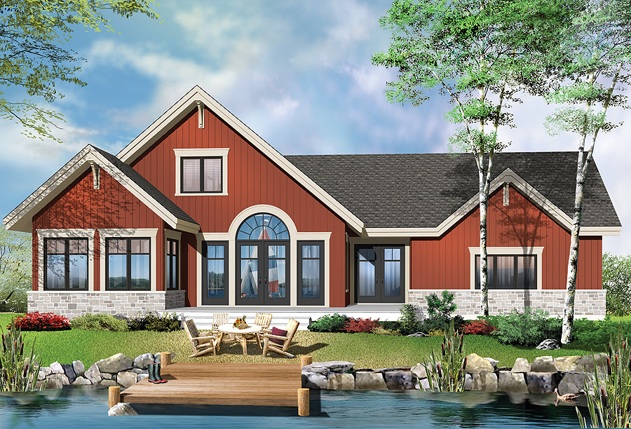 Plan of the Week: quot;Picture Perfect Country Cottage!quot; Drummond House Plans Blog - Starter Home Plan With English Country Charm 6990AM ArchitecturalDesigns House Plans