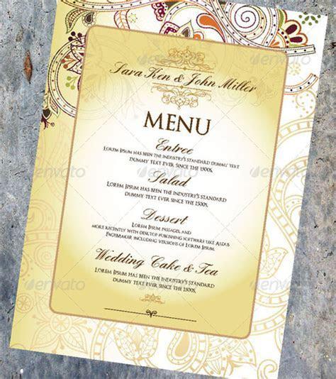 Wedding Menu Template   31  Download in PDF, PSD, Word
