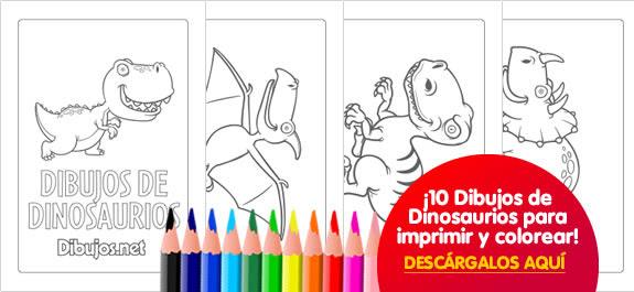 10 Dibujos De Dinosaurios Para Imprimir Y Colorear Dibujos Net