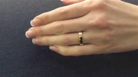 Yellow Gold Wedding Ring. Flat Shape & Flat Court Shape