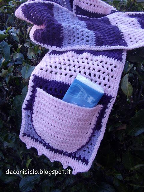 sciarpa righe viola-rosa-lilla 2