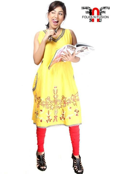 Folks N Fusion Tops-Kurti and Tights Fashion for Girls-Womens11