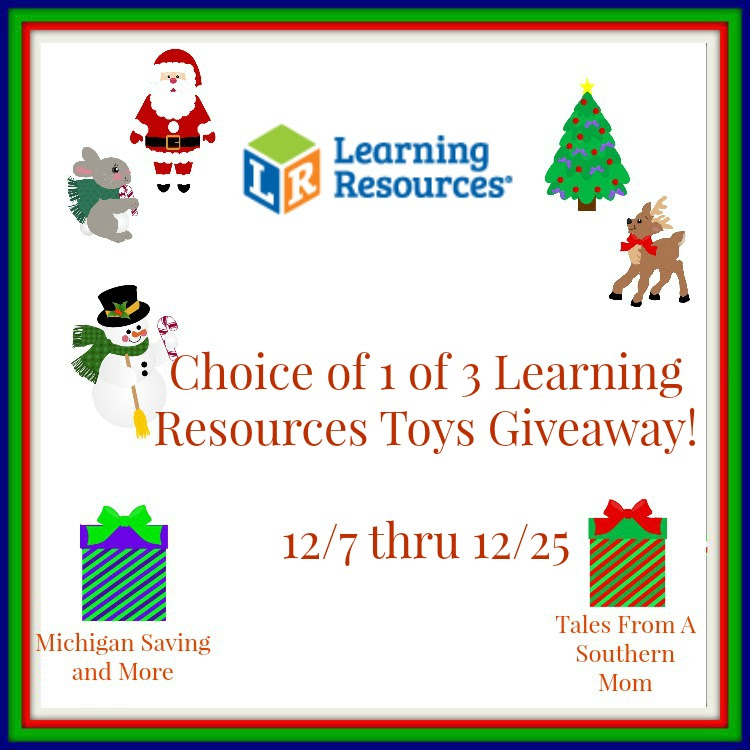 Enter the Learning Resources Toys Giveaway. Ends 12/25