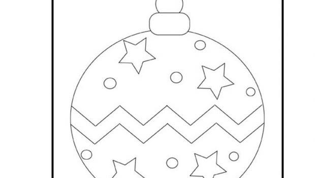 Para Colorear Dibujos De Esferas Navidenas Para Colorear