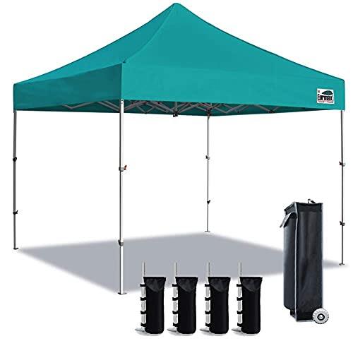 Eurmax 10 X 10 Ez Pop up Canopy Gazebo Commercial Tent + 4 ...