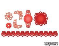 Набор лезвий от Spellbinders - Accents & Motifs Floral Doily Accents - ScrapUA.com