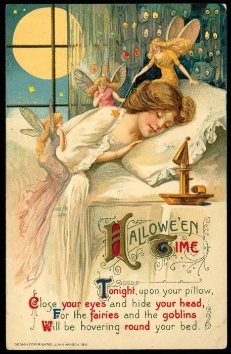 открытка - Хеллоуин