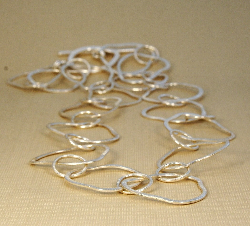 Blow Me Some Bubbles Brushed Silver Necklace