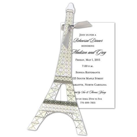 Eiffel Tower Invitations   PaperStyle