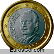 Moneda de 1 euro de España (1a edicion)
