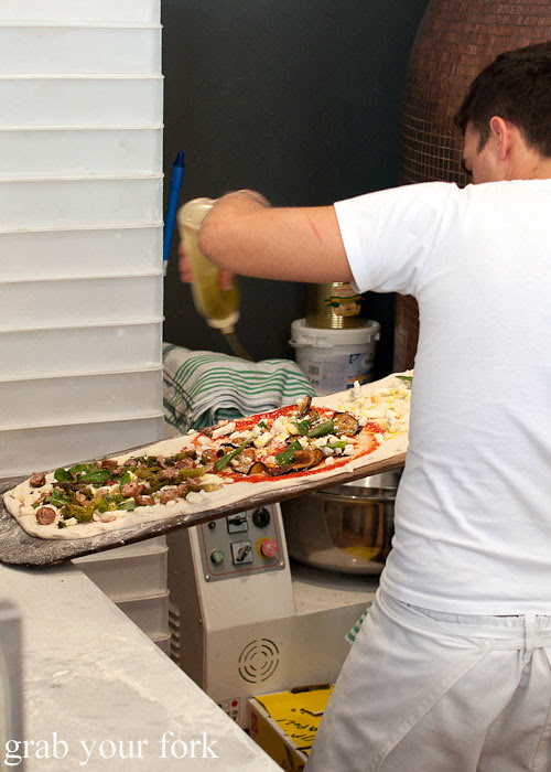 making pizza at via napoli lane cove