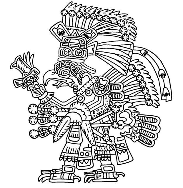 bird-man native art
