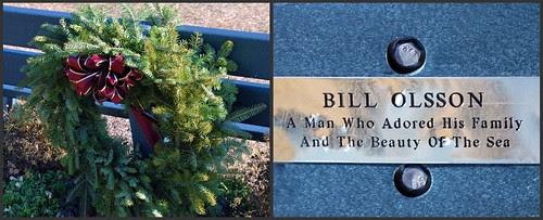 Olsson Bench & Christmas Wreath
