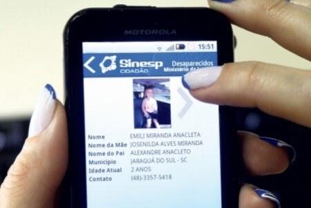 Aplicativo ajuda na busca de pessoas desaparecidas