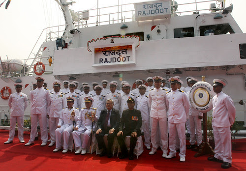 "INDIAN COAST GUARD SHIP ""RAJDOOT"" COMMISSIONED by Chindits"