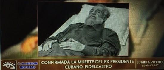 Foto do corpo de Fidel é divulgada por canal de TV Cubano