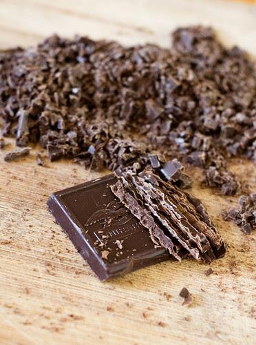 dobos torte - chopped chocolate