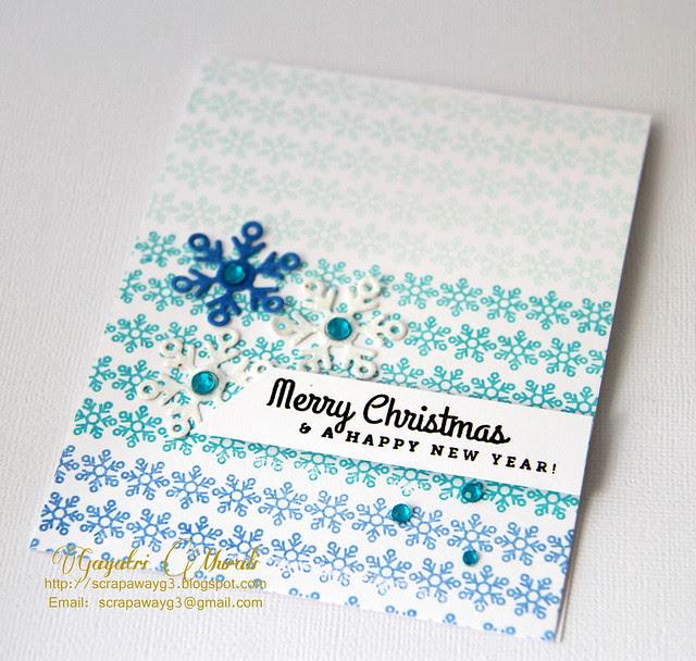Merry Christmas card closeup!