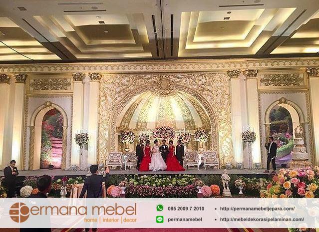dekorasi pernikahan karet mewah