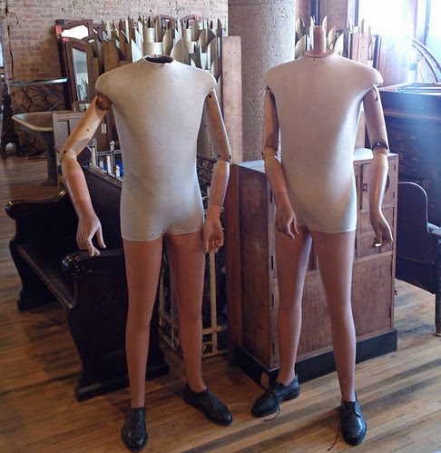 mannequins  from Architectural Artifacts in Ravenswood, seen during 2012 Ravenswood Art Walk 11th Annual Tour of Arts & Industry in Chicago