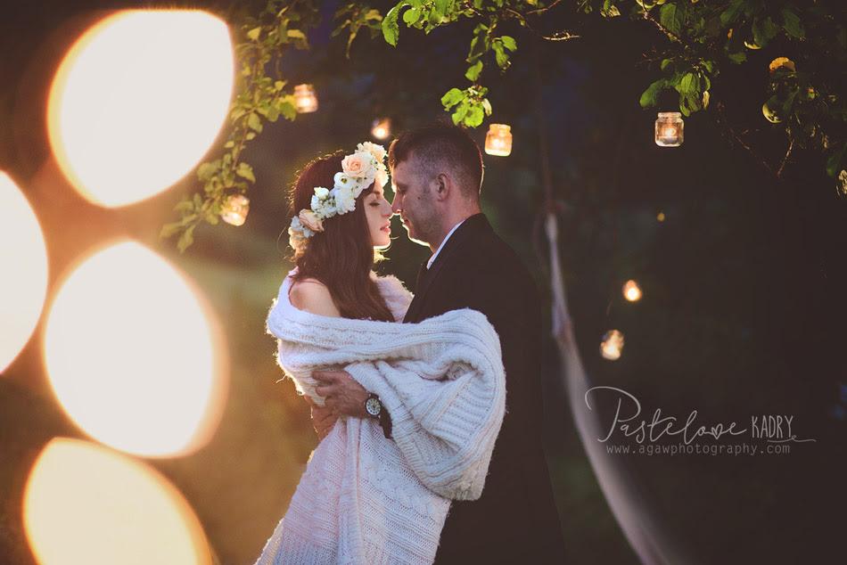 sesja ślubna świece