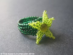Deep Green Sea Ring by The Sage's Cupboard